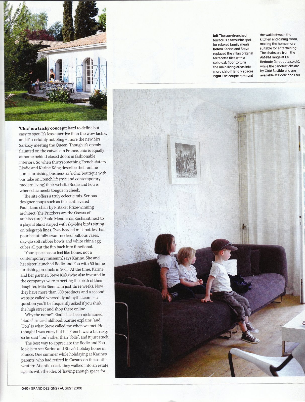 Our French home in Grand Designs magazine, July 2008