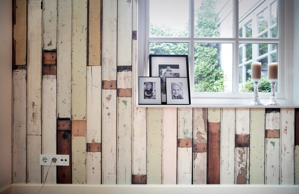 Scrapwood wallpaper collection by Piet Hein Eek