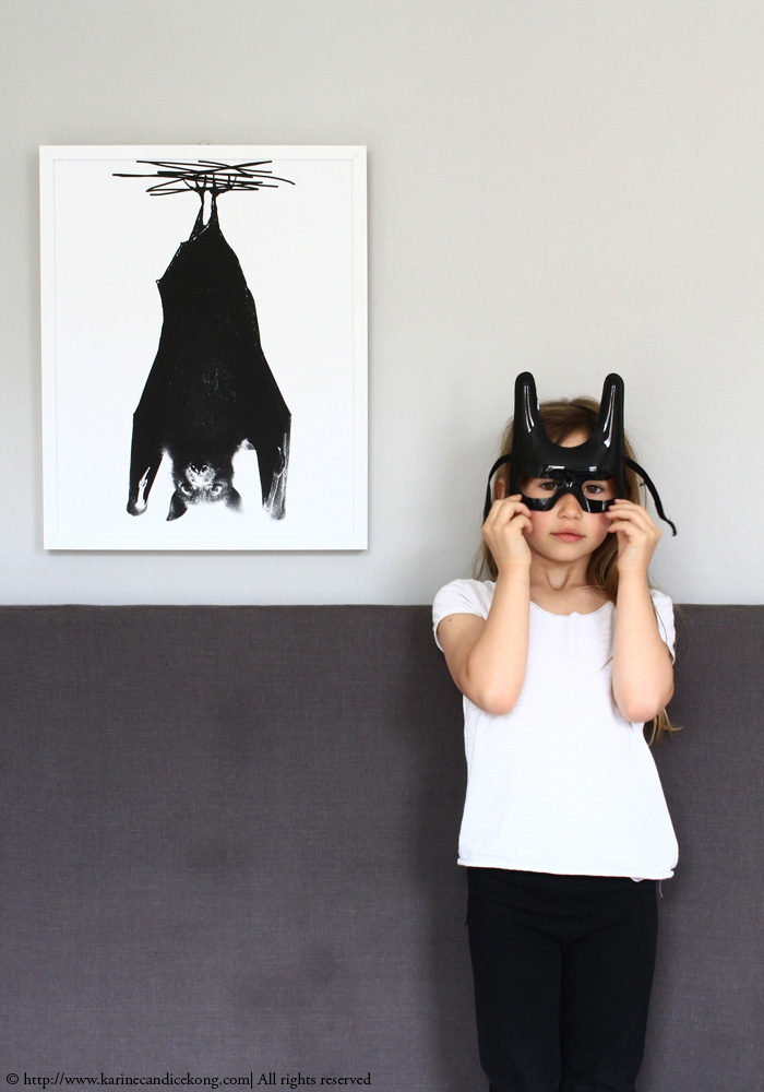 Did you know that in China, Bats are symbol of good fortune? Bat print from www.bodieandfou.com