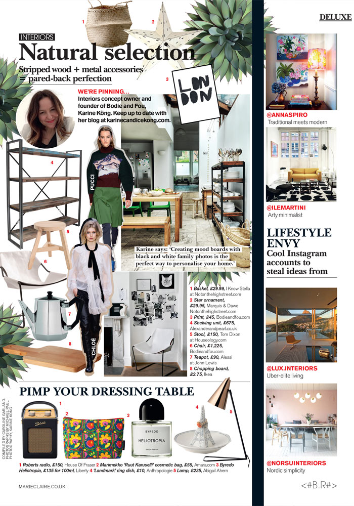 Karine Kong, Founder of BODIE and FOU in Marie-Claire UK Sept 2016