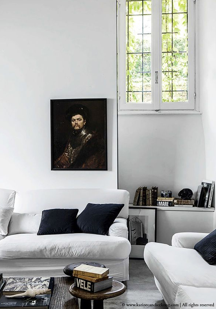 decorating with old painting