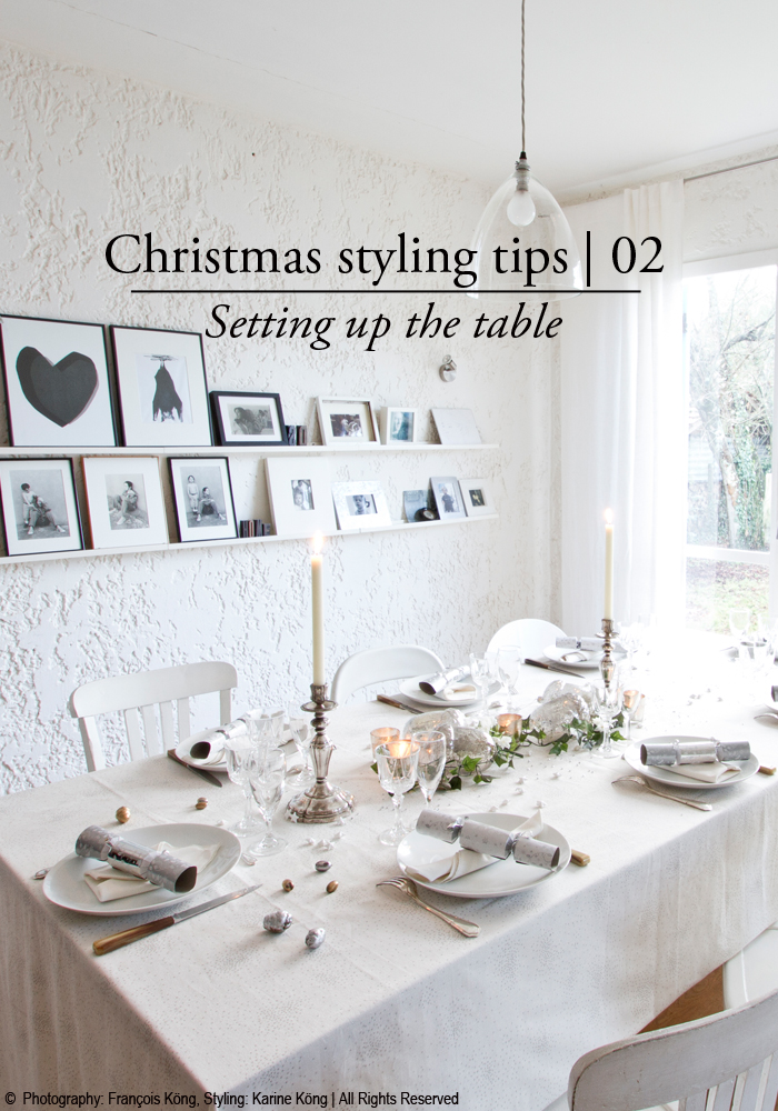 Holiday styling tips | setting up the dining table