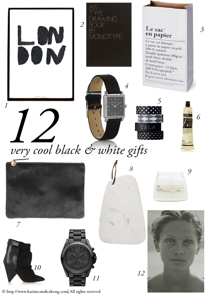 12 very cool black & white gifts which is basically everything I want