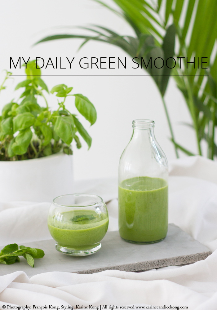 My daily green smoothie. Recipe on www.karinecandicekong.com