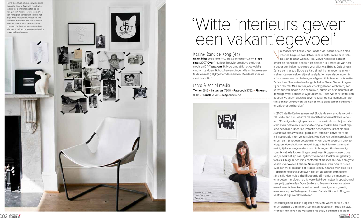 Karine Candice Kong, Blogueuse, Styliste ds VT Wonen