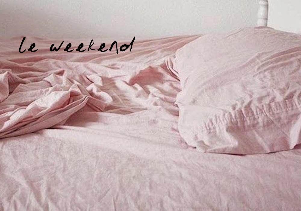 LE WEEKEND pink bed linens