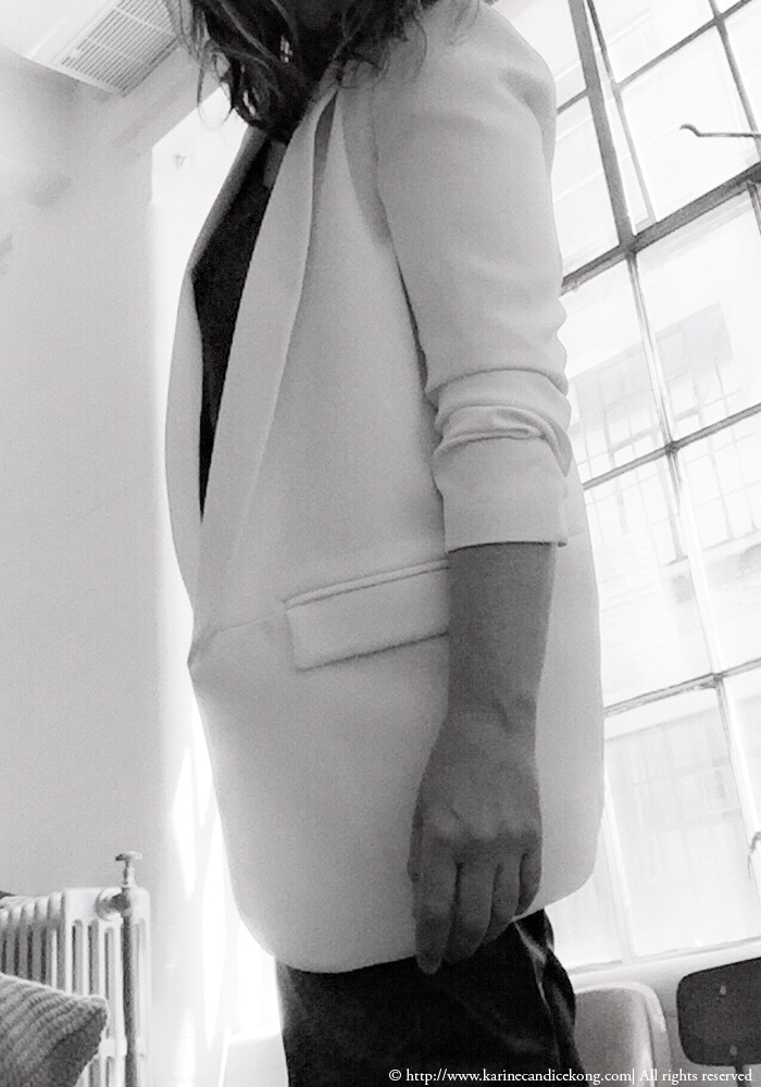 Style & Fashion, white jacket www.karinecandicekong.com