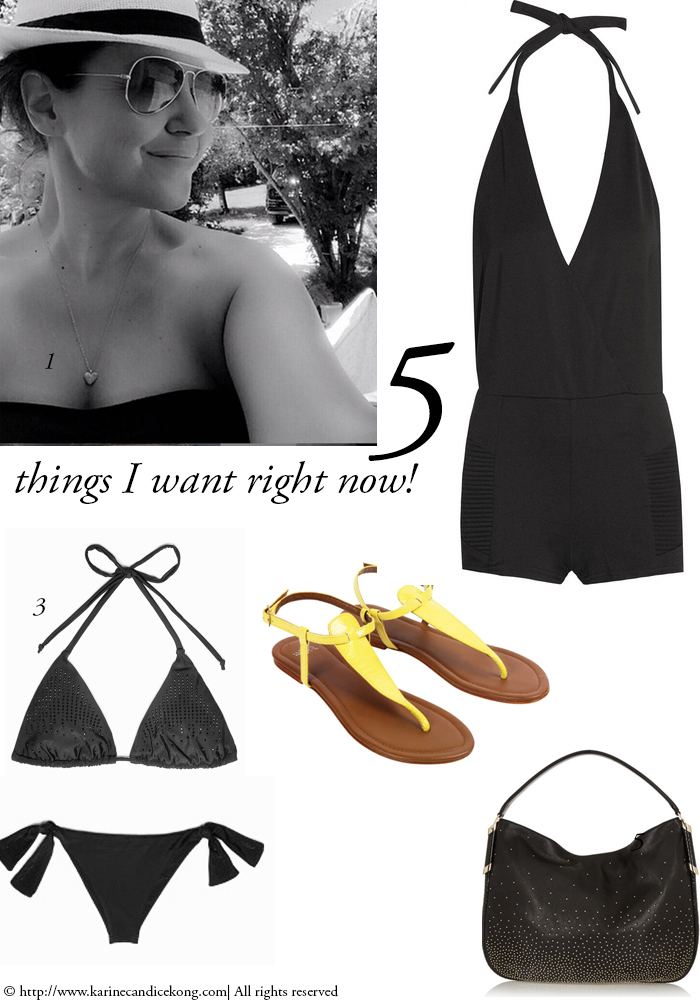5 THINGS I WANT RIGHT NOW! 26/06/2015 Read on www.karinecandicekong.com