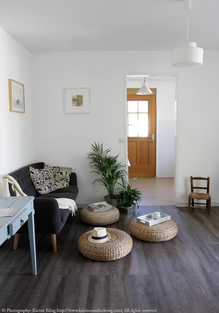 French house renovations, new floor & sofa. Read on www.karinecandicekong.com