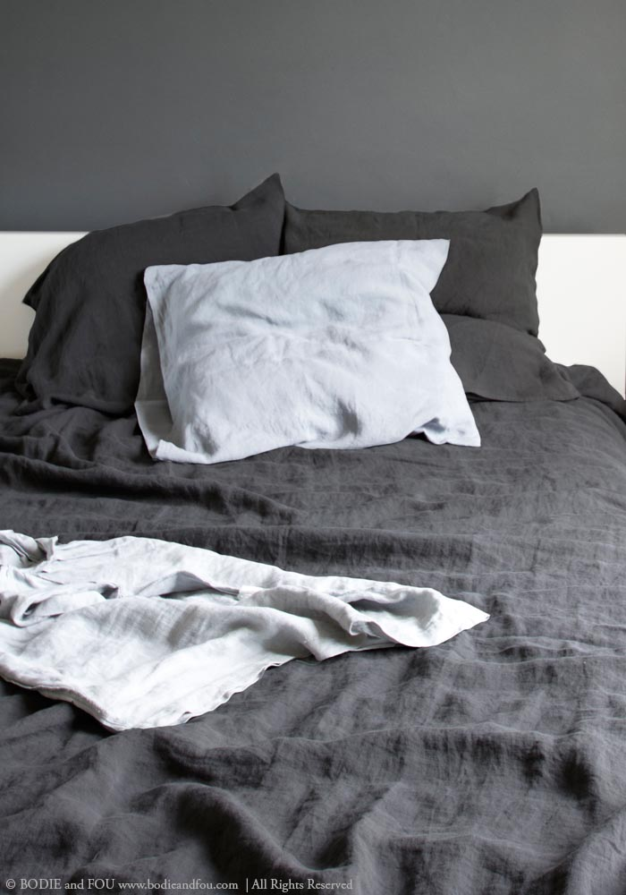 Using dark hues in the bedroom. Read on www.karinecandicekong.com