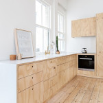 A small, beautiful flat re-designed with plywood