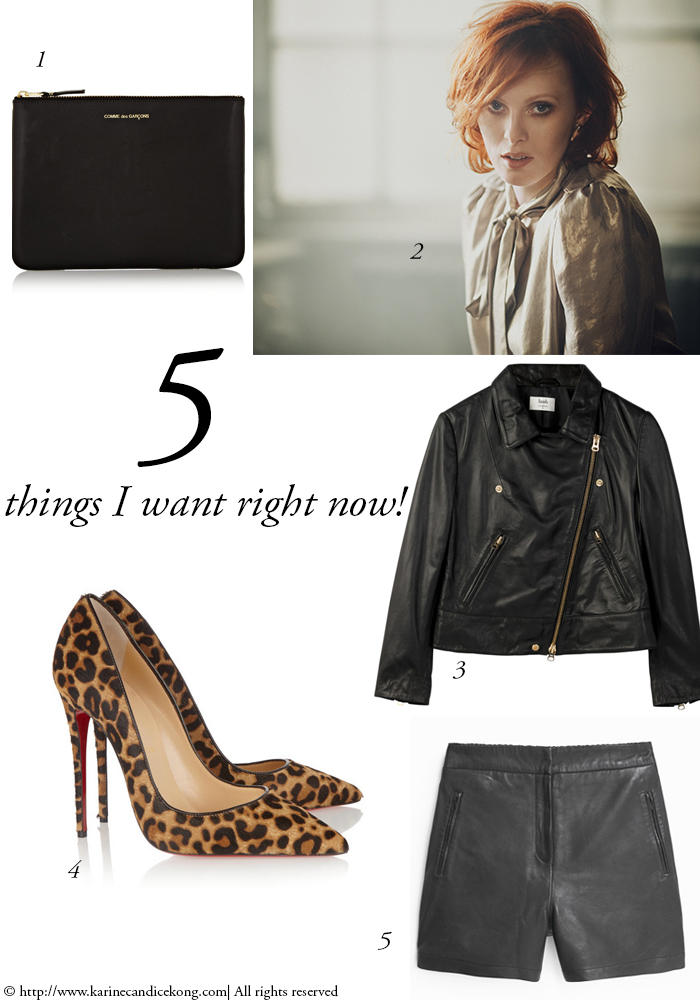 5 things you want right now to look chic & rock'n roll. Read on www.karinecandicekong.com
