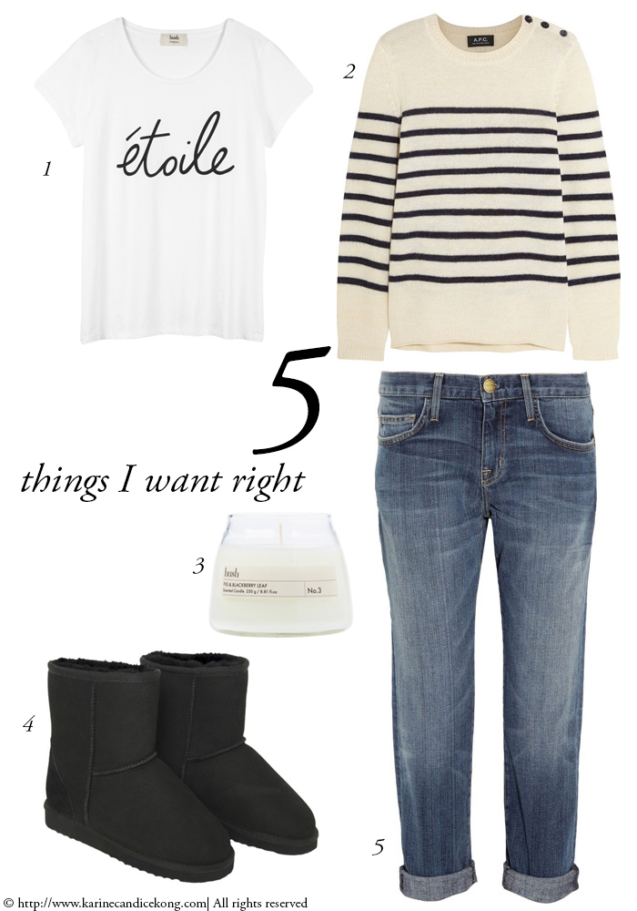 5 Things I want right now to rock the off-duty look. Read on www.karinecandicekong.com