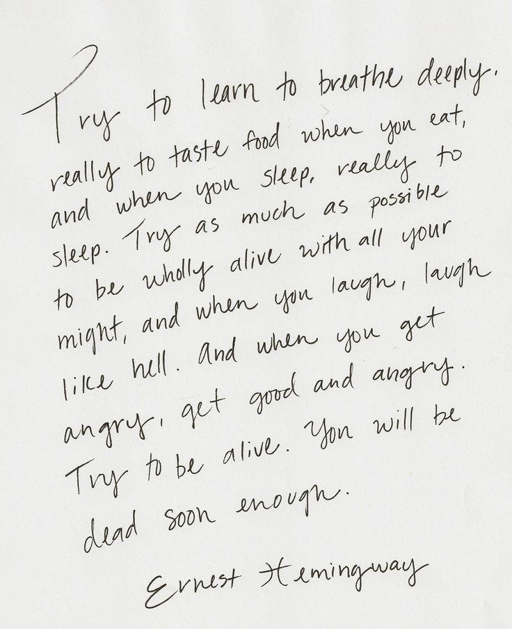 Inspirational words by William Saroyan