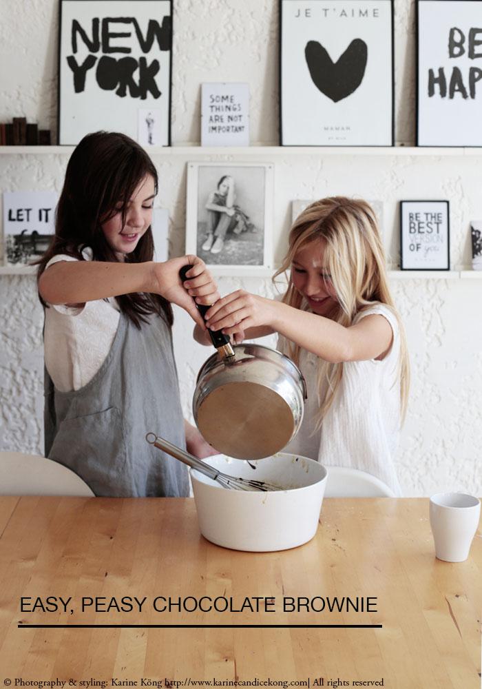 easy, peasy chocolate brownie by Lily & Mila. Read on www.karinecandicekog.com