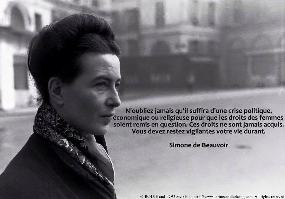 10 inspiring quotes by Simone de Beauvoir