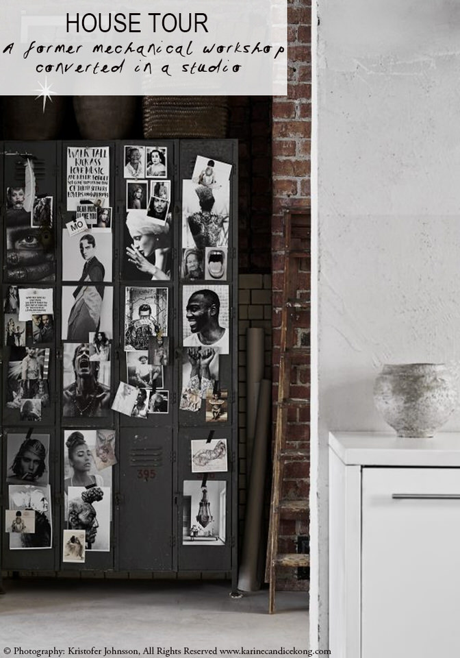 A former mechanical workshop converted in a studio. Read on...