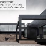 Une maison d'architecte avec facade en bois noir