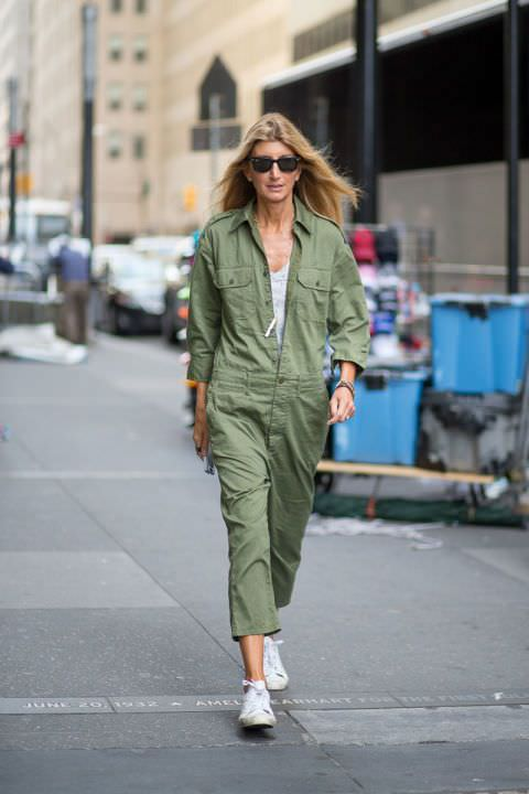 Look of the day: Sarah Rutson in her NLST jumpsuit. Spot on!