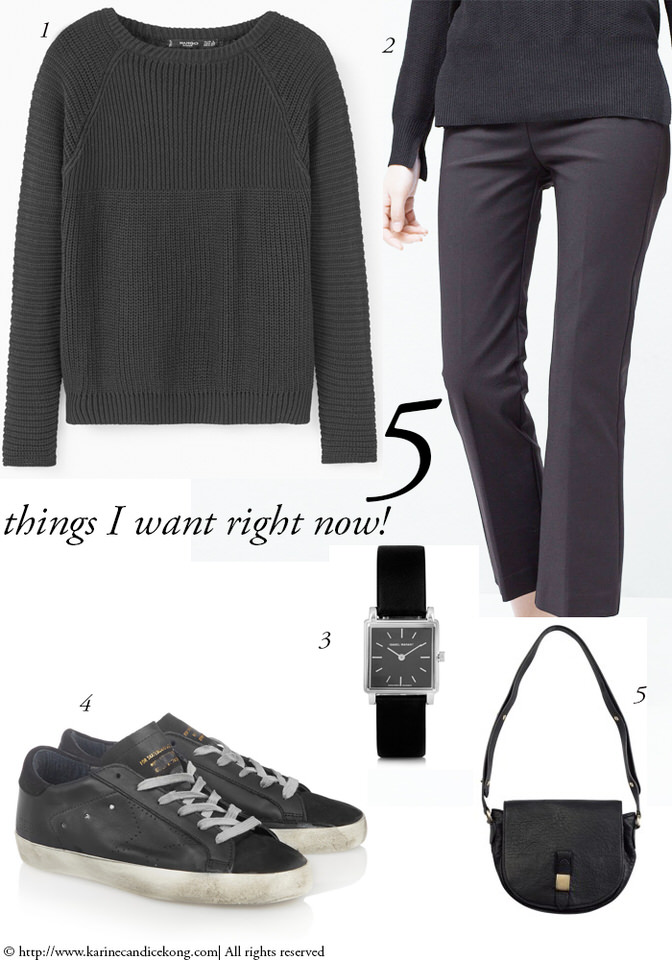 5 Things I Want Right Now! All black look