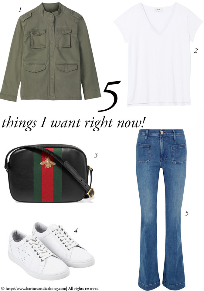 5 Things I Want Right Now! Military jacket & Gucci bag