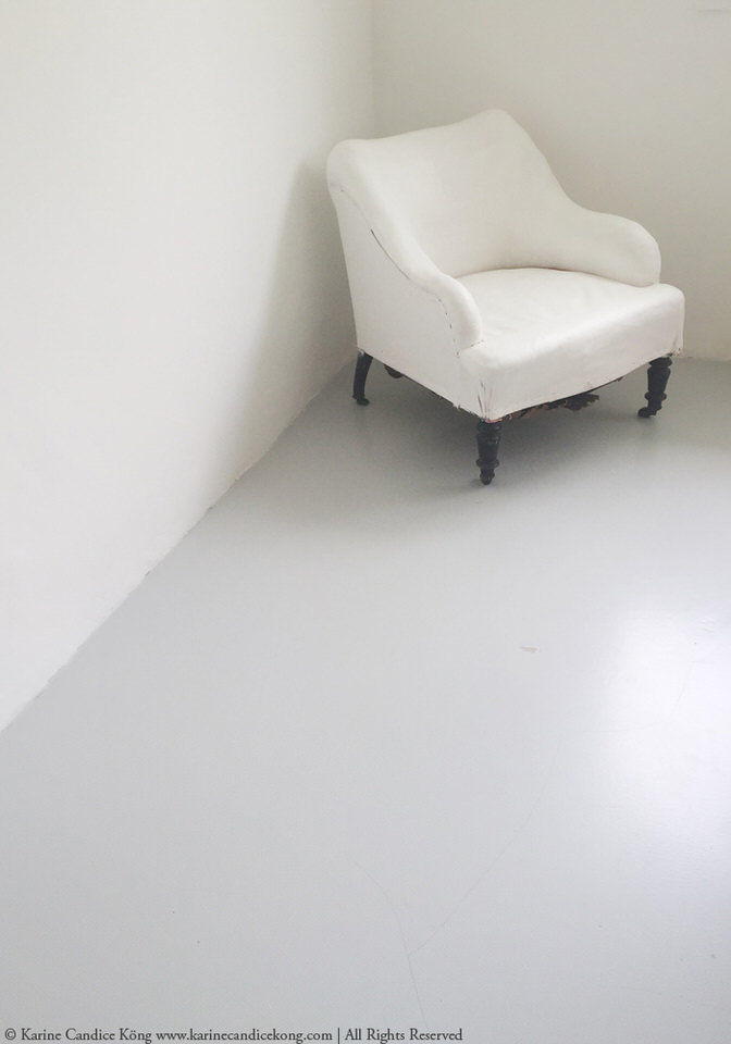 bedroom concrete floor