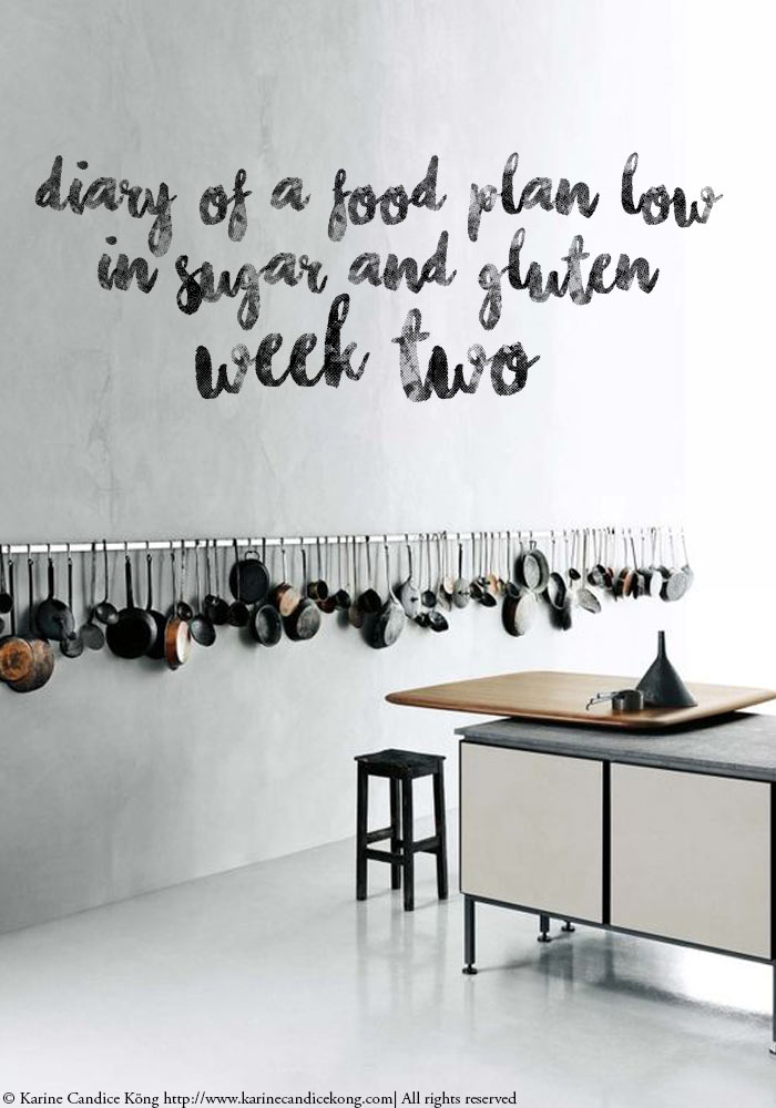 Food diary low in sugar & gluten week 2