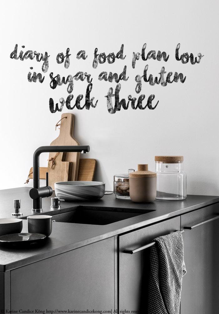 Food diary low in sugar & gluten week 3