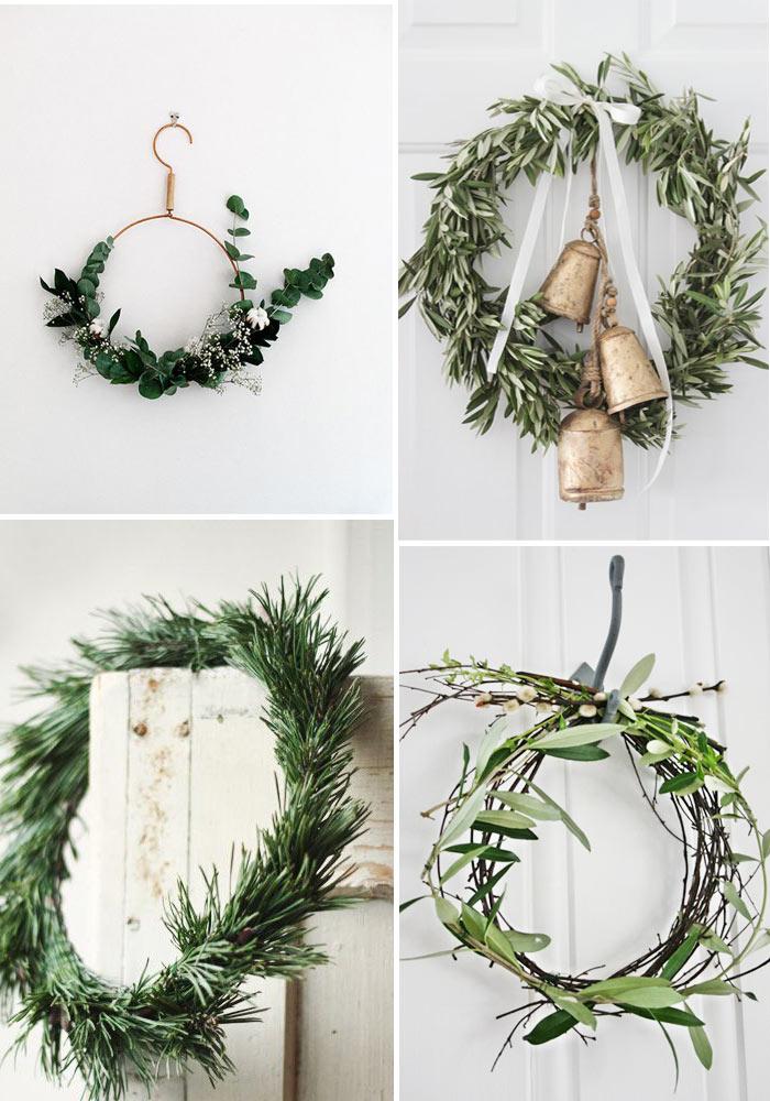 10 jolies, naturelles couronnes de Noël à faire
