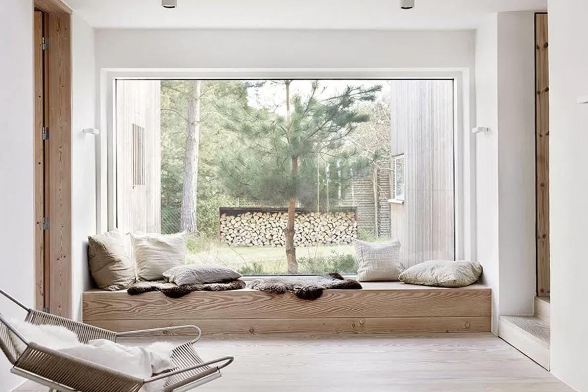 Natural wood white interior a scandinavian home in the Scandinavian wood
