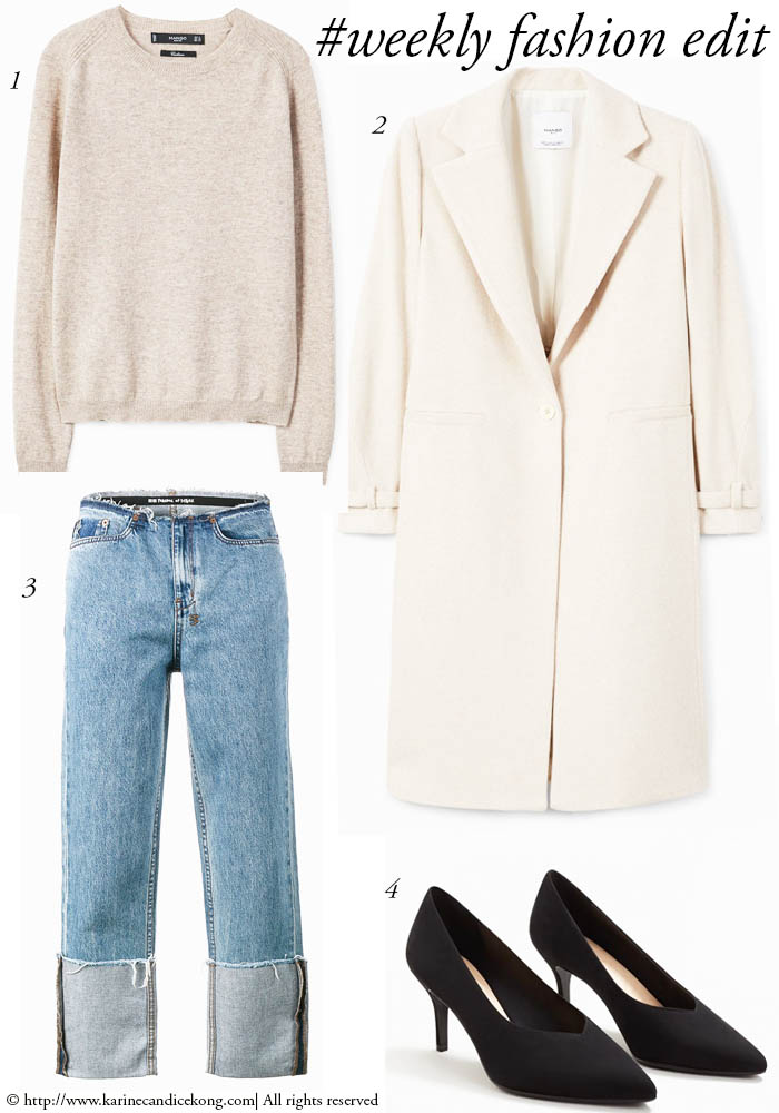 #Weeklyfashionedit | Cream coat & cashmere jumper