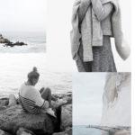 Winter by sea inspired mood board