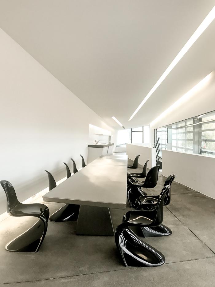 Vitra Campus: Inside the Vitra Fire station designed by Zaha Hadid, 1993