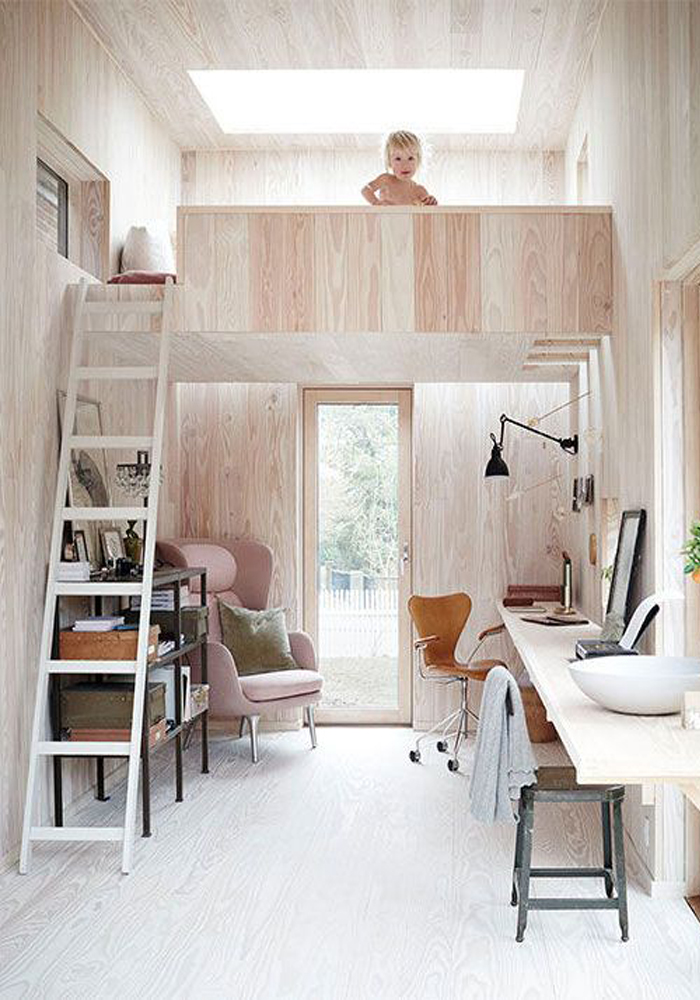 The beautiful home studio of Photographer Ditte Isager