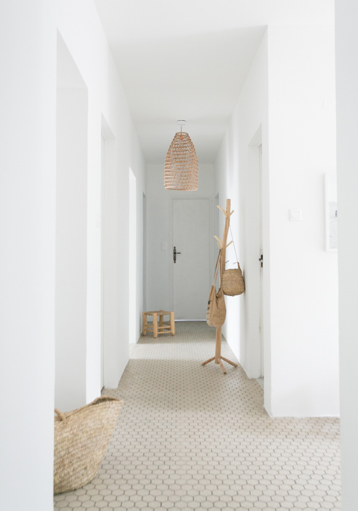 Before After Our Minimalist Beach Hallway Makeover