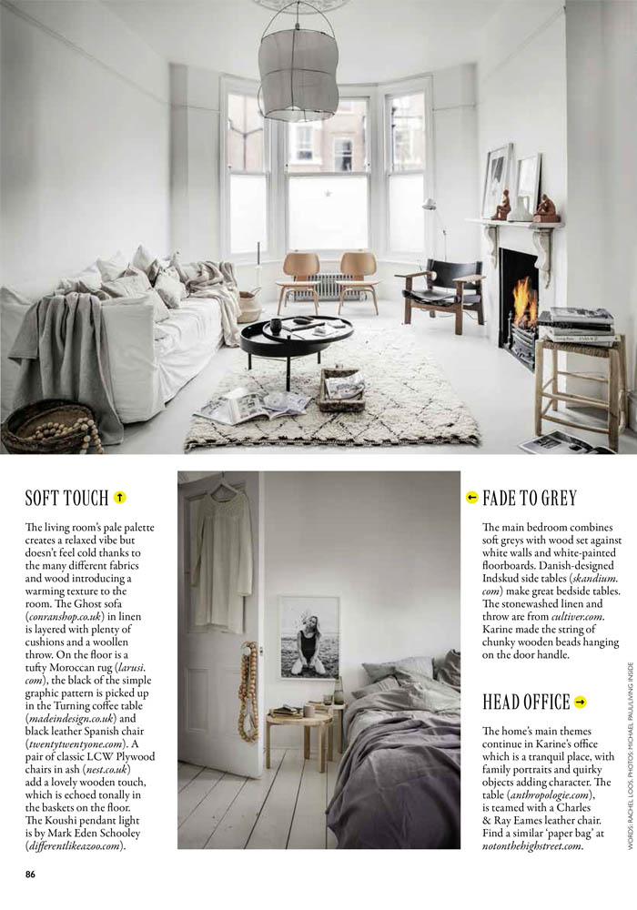 A pared-down & natural London home in Grazia