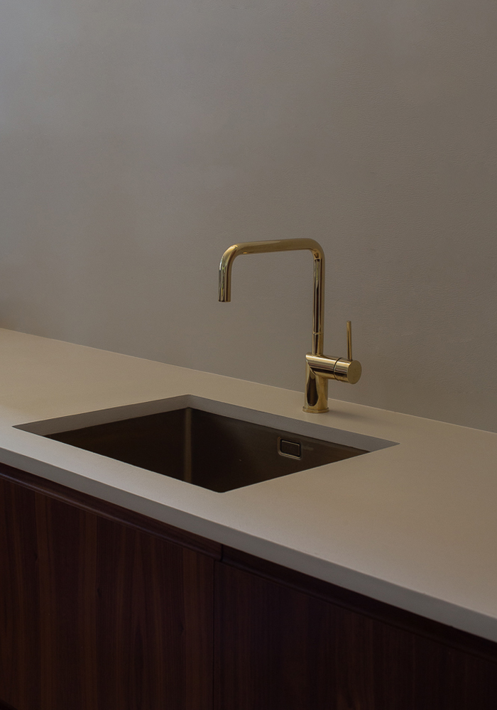 Our Nivito brass kitchen tap and brass sink